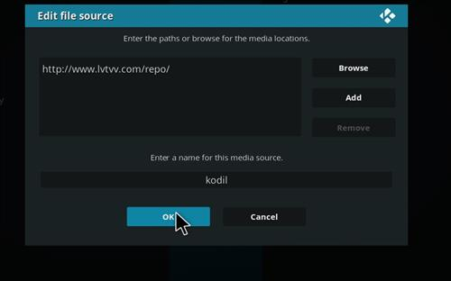 How to Install Kodil Kodi Repository step 7