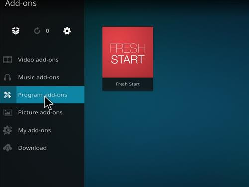 How to Wipe Kodi, Remove A Build, Clear Settings Fresh Start the Kodi step 15