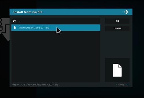 How to Install Slamious Kodi Build with Screenshots step 12