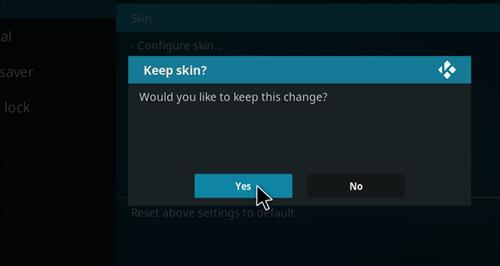 How to change the Skin back to Default Estuary passion step 5