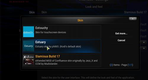 How to change the Skin back to Default Estuary slamious step 4