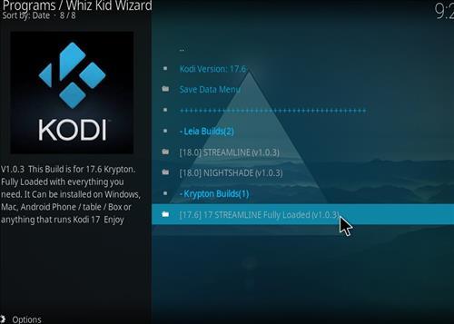 How to Install Streamline Fully Loaded Kodi Build step 17