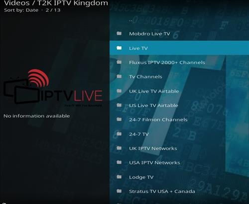 How to Install T2K IPTV Kingdom Kodi Add-on with Screenshots pic 2