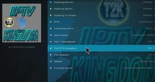 How to Install T2K IPTV Kingdom Kodi Add-on with Screenshots step 17