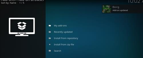 How to Install Borg Kodi Add-on with Screenshots step 13
