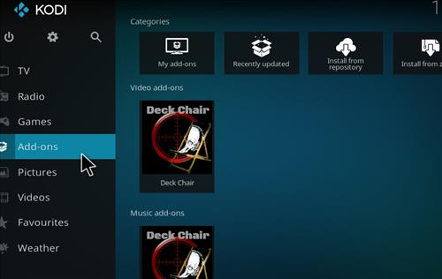 How to Install Deckchair Add-on for Kodi 18 Leia step 8