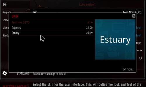 How to change the Skin back to Default Estuary robo red step 4