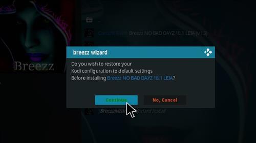 How to Install Breez No Bad Dayz Kodi 18 Leia Build step 24