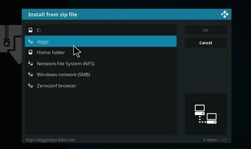 How to Install Diggz XenoX Kodi 18 Leia Build step 11