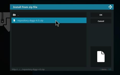 How to Install Diggz XenoX Kodi 18 Leia Build step 13