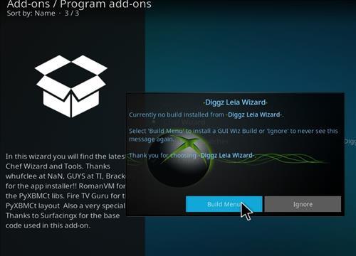 How to Install Diggz XenoX Kodi 18 Leia Build step 22