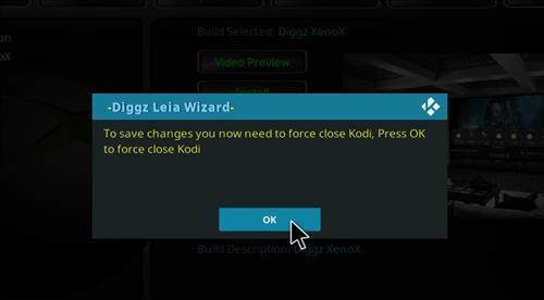 How to Install Diggz XenoX Kodi 18 Leia Build step 27