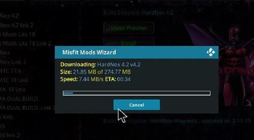 How to Install Hardnox 4.2 Kodi 18 Leia Build step 20