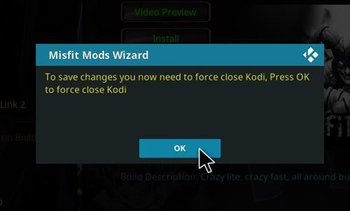 How to Install Asylum Kodi 18 Build Leia step 21