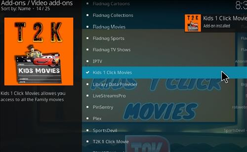 How to Install Kids1 Click Movies Kodi 18 Leia Add-on step 20