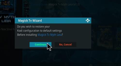 How to Install Magick TV Myth Kodi 18 Leia step 19