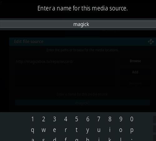 How to Install Magick TV Myth Kodi 18 Leia step 6