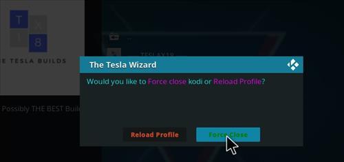 How to Install Teslax18 Kodi Build 18 Leia step 20