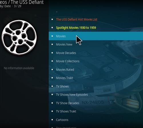 How to Install The USS Defiant Kodi 18 Leia Add-on pic 2