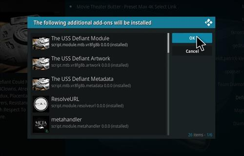How to Install The USS Defiant Kodi 18 Leia Add-on step 20