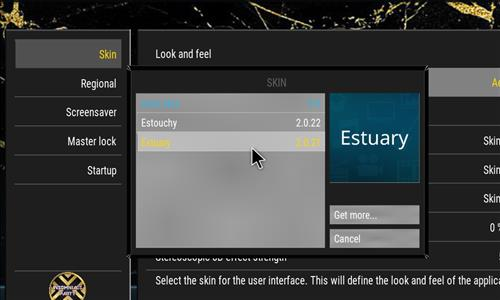 How to change the Skin back to Default Estuary black nad gold step 4