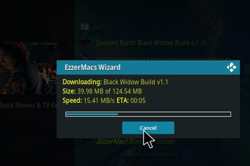 How to Install Black Widow Kodi 18 Build Leia step 27