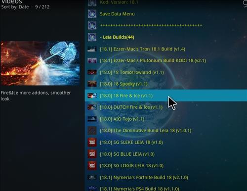 How to Install Fire & Ice Kodi 18 Build Leia step 24