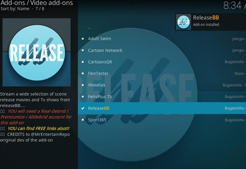 How to Install Release BB Kodi 18 Leia Add-on step 20