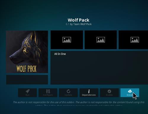 How to Install WolfPack Kodi 18 Leia Add-on step 18