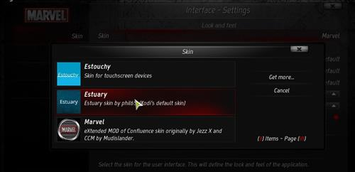 How to change the Skin back to Default Estuary marvel 18 step 4