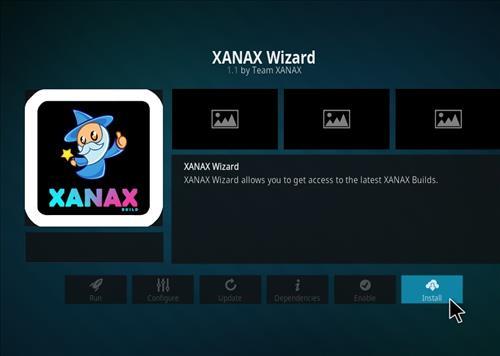 How to install Xanax Build on Kodi 18 Leia step 18