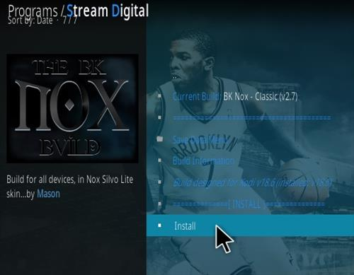 How To Install BK Nox Kodi 18 Build Updated Leia Step 16