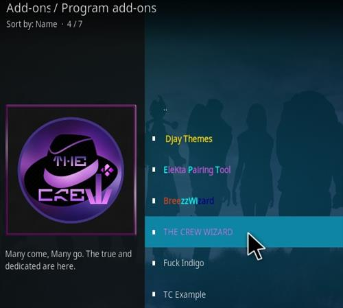 How To Install The Crew Wizard Kodi Step 17