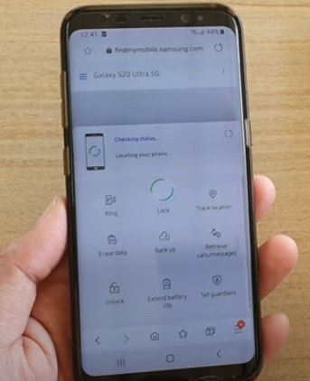 How To Track Location of Lost or Missing Phone Galaxy S20 or S20 Plus Step 3