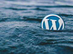 wordpress, water, logo