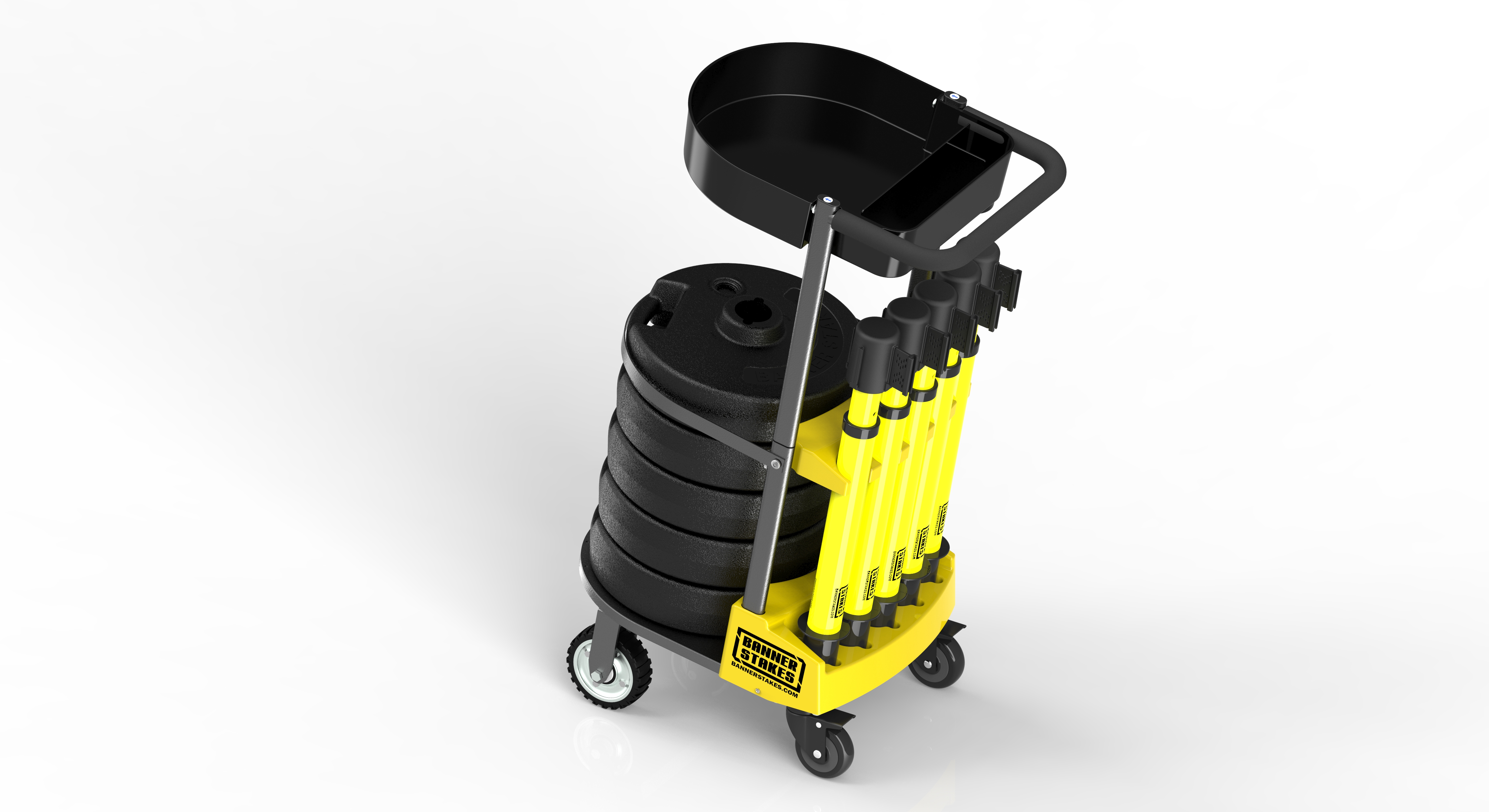 Banner Stakes Product Showcase – Plus Line Cart Packages