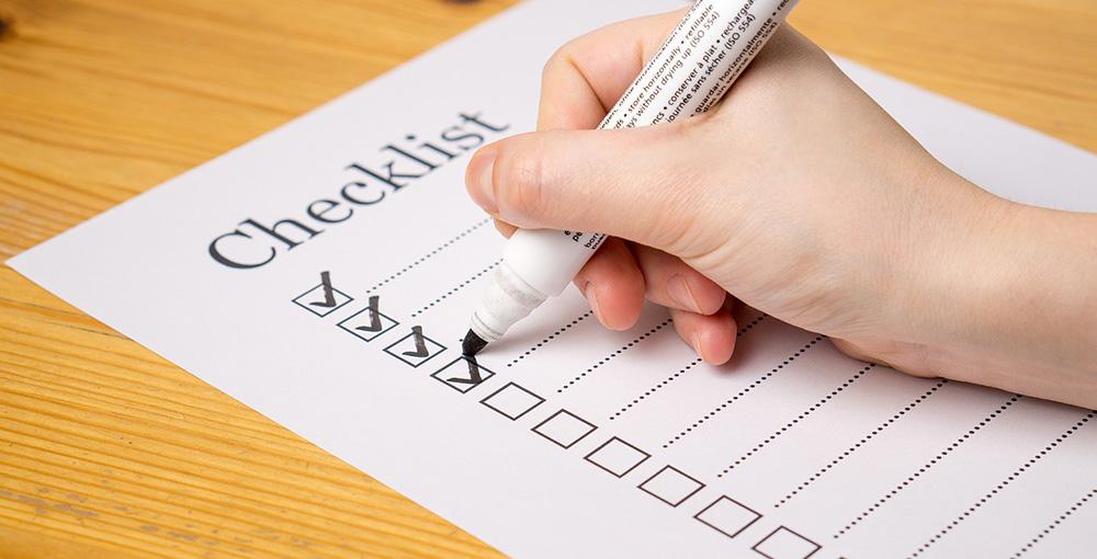 Self-Inspection Checklist