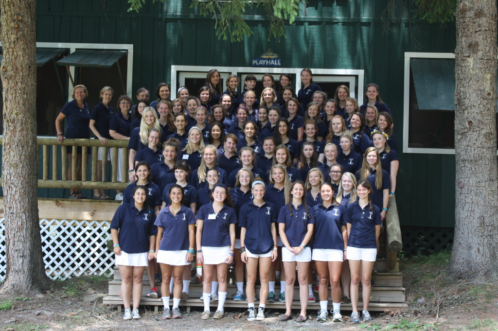Counselors look forward on opening day to the full term ahead. Photo: Camp Alleghany for Girls.