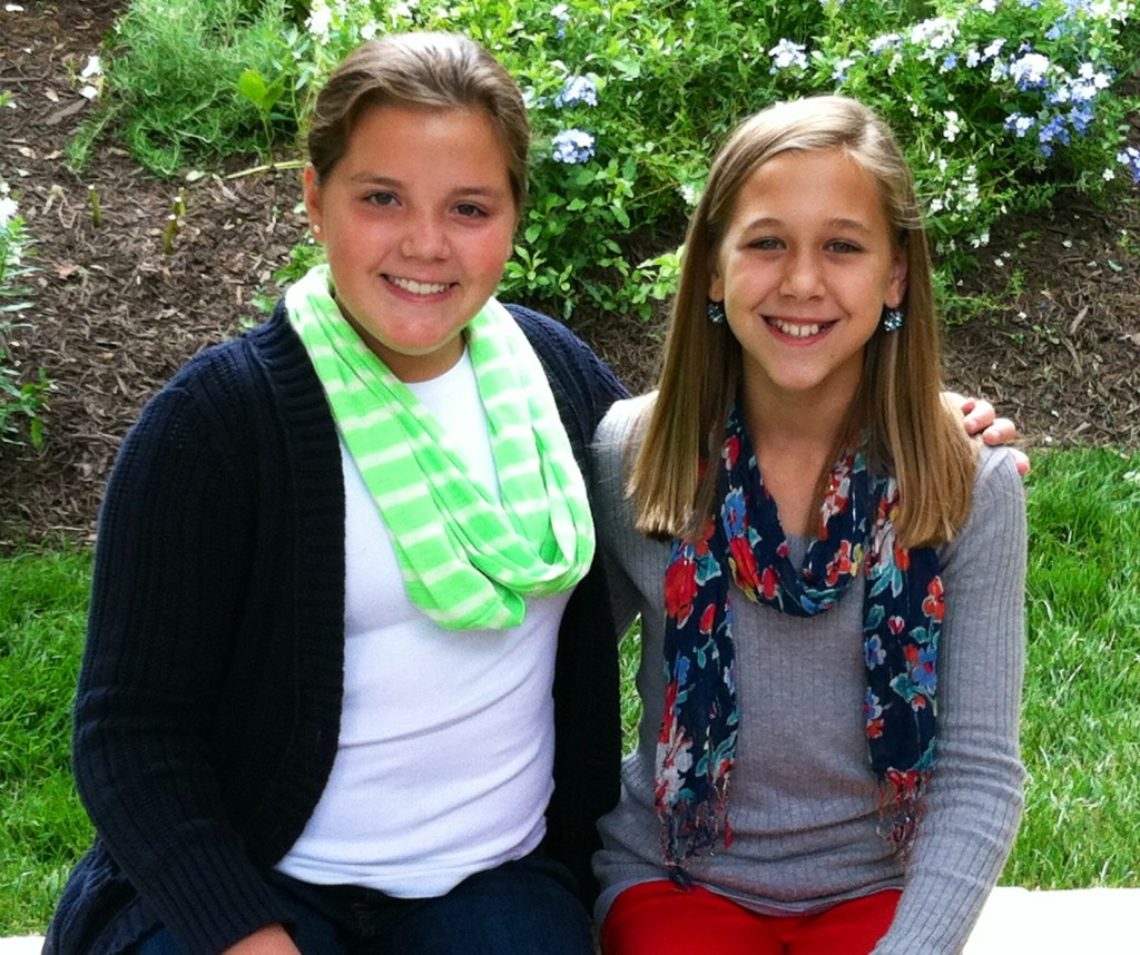 Ellie (left) and Taylor (right) meet in the off season to reminisce and plan for Camp 2014!