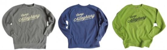 New sweatshirts in three colors.
