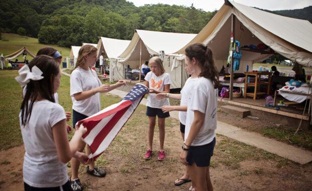 flag protocol at camp