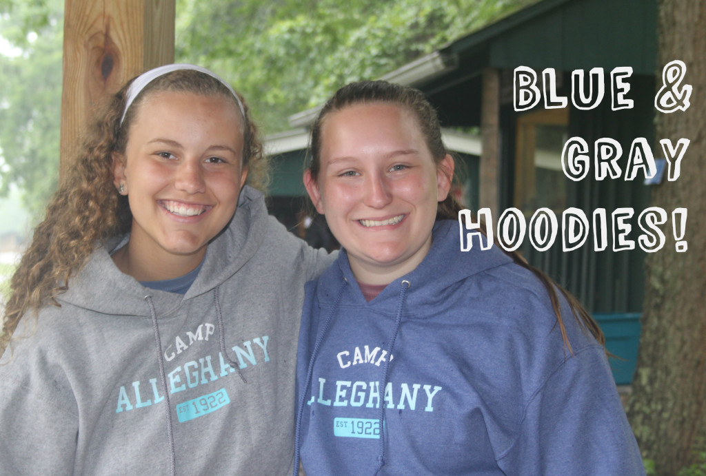 Camp Alleghany Blue and Gray Hoodies