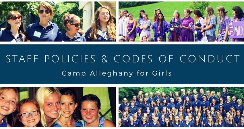Camp Alleghany for Girls Staff Policies and Codes of Conduct