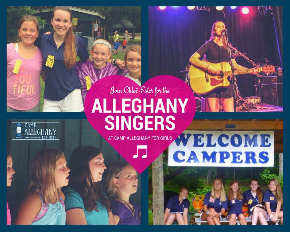 singing at camp