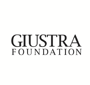 "Giustra Foundation logo: black upper case text that reads ""Giustra Foundation"" on a white background."