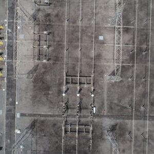 Drone aéreo Subestação