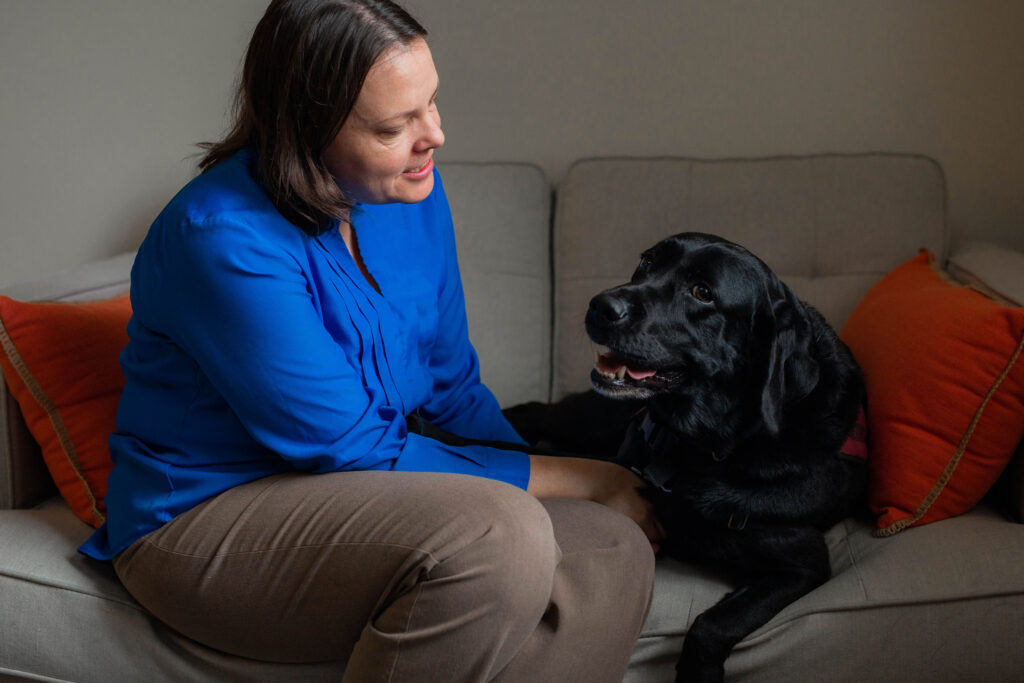 courage-health-wellness-virginia-staff-certified-counsellor-april-cook-service-dog-riggs