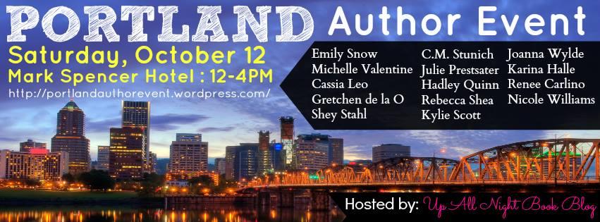 Portland Author Event Banner