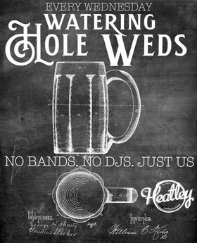 Chill neighbourhood vibes all nite with @vangardenns & @olemandenver holding down the fort. Watering Hole Wednesdays @theheatley696 C'mon down for a cold one and a burger or grab some beer and grub to go!