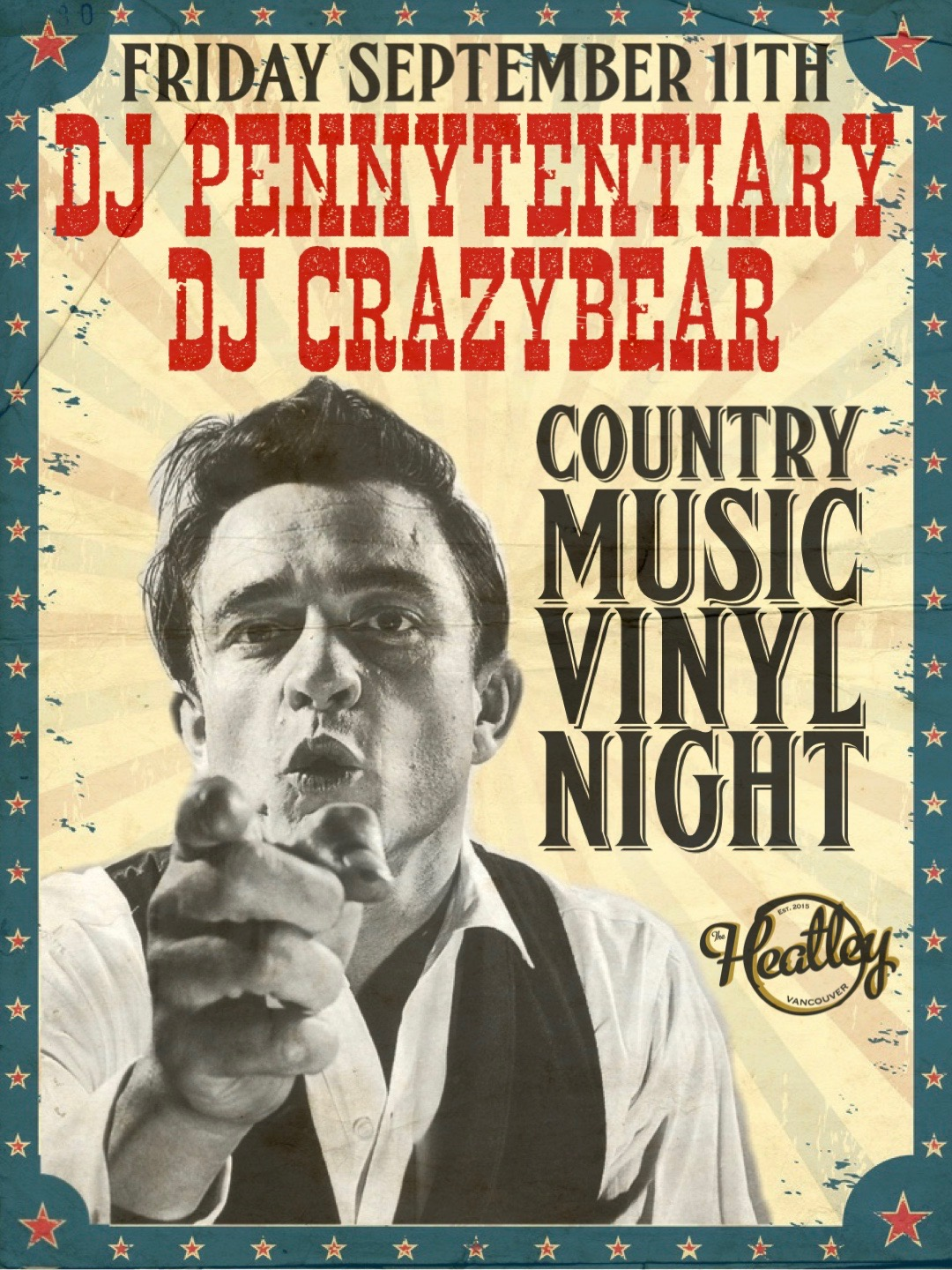 When times are tough, we listen to country. C'mon down and enjoy some great country tunes as selected by @pennstagam and @himalayanbear tonight @theheatley696 DJ set 8pm-11pm. Last call at for alcohol at 10pm.